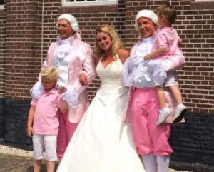 Lakei bij bruiloft
