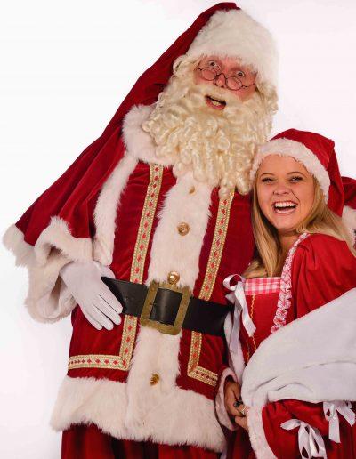 Professionele Kerstman en vrouw van December-entertainment.nl